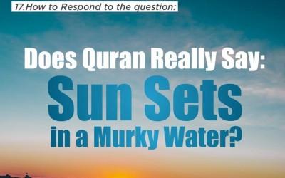 The Sun setting in a murky water?